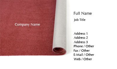 Red Carpeting Business Card Template